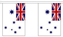 AUSTRALIA NAVY ENSIGN BUNTING - 9 METRES 30 FLAGS